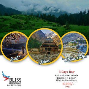 03 Days Tour To Swat, Kalam & Malam Jabba