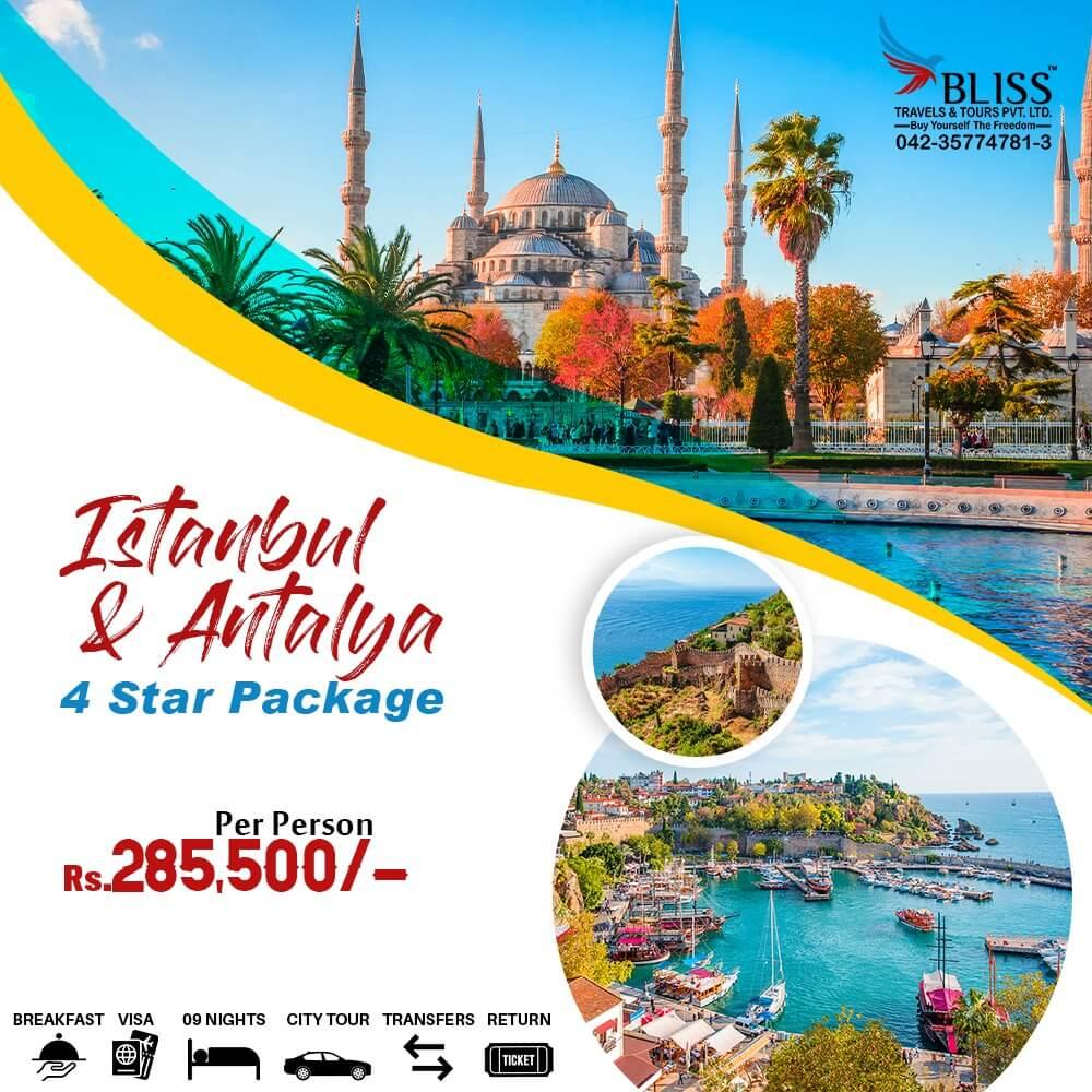 Istanbul & Antalya 4 Star Package